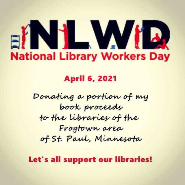Supporting Frogtown libraries!  #nationallibraryweek, #nationallibraryworkersday, #suspense, #thrillers, #donation, #frogtown